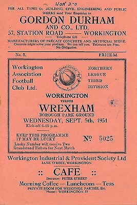 Workington v Wrexham 1951/2 - Reds 1st League season!
