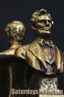 1930's - 1950's President ABRAHAM LINCOLN Pair of BOOKENDS Vintage Marion Bronze