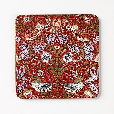 William Morris Coasters (4) - Strawberry Thief Design