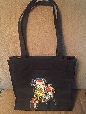 Betty Boop Tote Bag! NWT! Biker Betty. Coin Purse On Inside. Bottle Holder