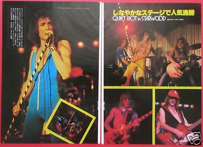 Quiet Riot Randy Rhoads Kevin Dubrow 1978 Clipping Japan Os 5A 2Page