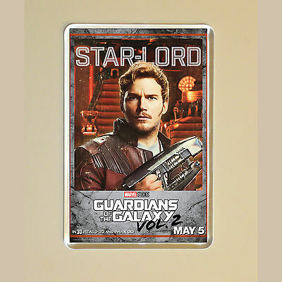 Guardians Of The Galaxy Vol 2 - Chris Pratt - Star Lord - Photo Fridge Magnet