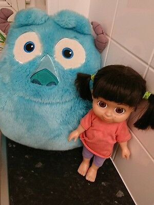 Disney pixar monsters Inc talking boo doll and sulley cushion