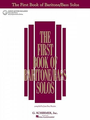 The First Book of Baritone Bass Solos Vocal Collection Book NEW 050481176