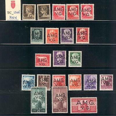 "TC_1306. TRIESTE-AMG VG. 1945 ""DEMOCRATICA"" set. Sas 1-21. MNH. High value !"