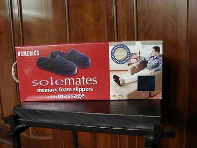 HOMEDICS solemates Memory Foam with Massage Slippers  Size M/L   New in Box