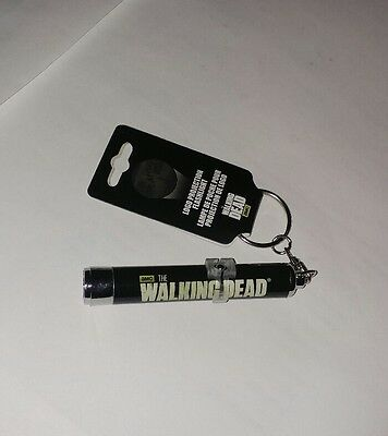 AMC's The Walking Dead Logo Projection Flashlight Keychain/Keyring - NEW