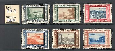 "Z_R_3. ITALY KINGDOM. 1933 ""CROCIERA ZEPPELIN"" set. MNH"