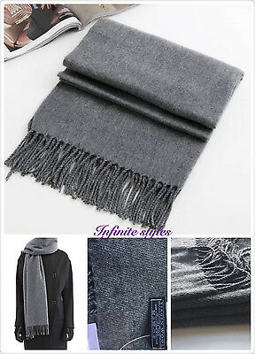 High Quality 100% Wool Unisex Winter Knit Wrap PashminaThick Long Scarf Shawl