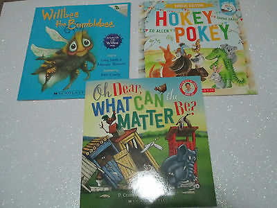 Children's Picture Story Books + CDs - *NEW* Oh Dear, Willbee, Hokey Pokey