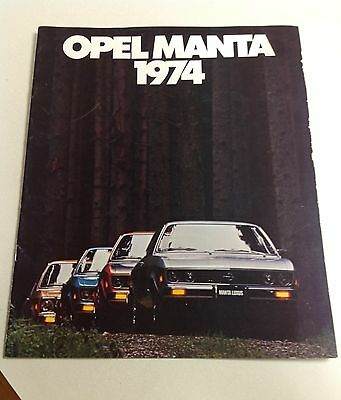 1974 Opel Manta Original Car Sales Brochure Catalog