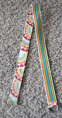 Girls Kids Double Sided Belt Heart And Rainbow