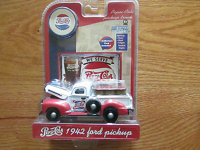 NIB Pepsi Cola Collectable 1942 Ford Pickup Truck Die Cast Model W Collect.Card
