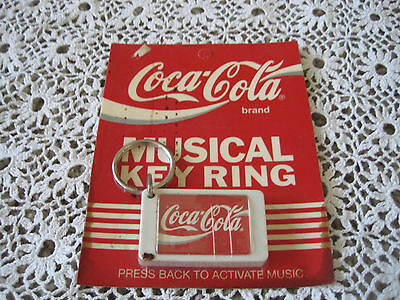 Coca Cola Musical Key Ring Chain Still in Package 1990 Vintage
