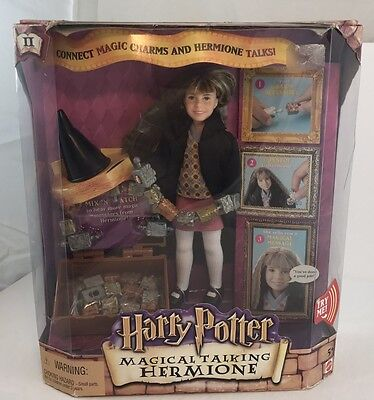 Hermione magical talking doll action figure Harry Potter 2002 Mattel Rare HTF