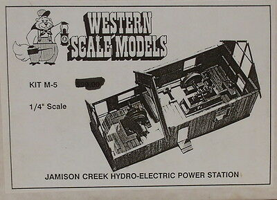 "O On3 On30 CRAFTSMAN WSM ""JAMISON HYDRO POWER STATION  W/INTERIOR KIT # M-5-NEW"