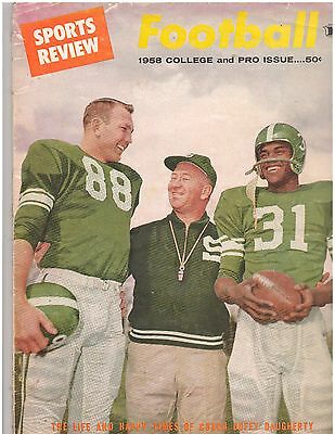 1958 SPORTS REVIEW FOOTBALL COLLEGE and PRO ISSUE
