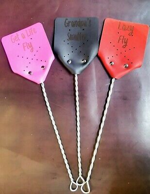 Personalised Australian Leather Fly Swatter