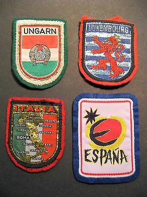 Travel Patches 4 Spain Hungary Italy Luxembourg Europe  Sewing