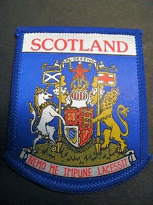 Travel Patch Scotland Flag Coat Of Arms Europe Sewing Souvenir