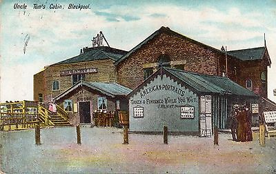 Vintage Postcard Uncle Tom's Cabin Blackpool American Portraits Photography