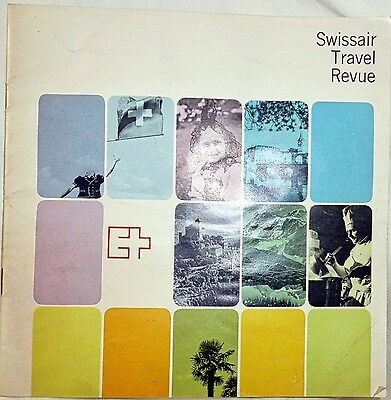 """Vtg Swissair European Illustrated Vacation Guide 1964-22 Pages-7"""" X 7"""""""