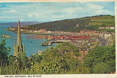 Postcard The Bay Rothesay Isle of Bute Vintage Posted  AI393