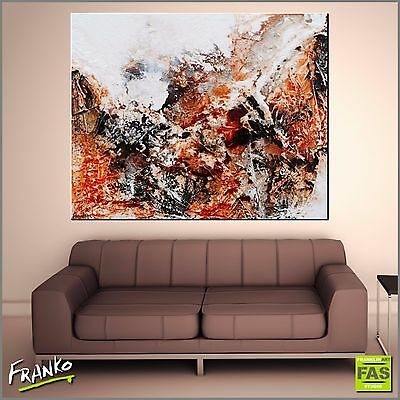 Modern Abstract Art Painting Textured Canvas Sienna 120cmx150cm Franko Australia