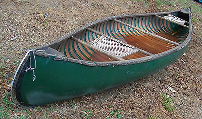 Vintage Stowe Mansfield Used 13' Canoe Pick Up Only In Bradford,NH Needs Restore