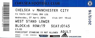 TICKET: FA YOUTH CUP FINAL 2016 Chelsea v Man City