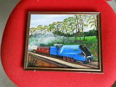 Amateur Oil Paining of LNER Mallard - Signed K Letham