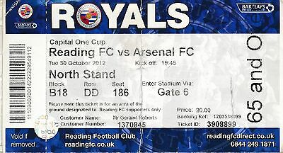 TICKET: Reading v Arsenal  (League Cup) 2012 Famous 5-7 game!