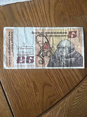 Central Bank of Ireland £5 note