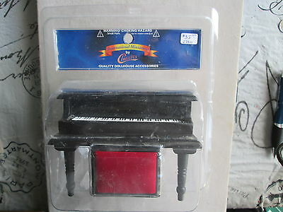 Classics Miniatures Dollhouse Accessories Grand Piano With Bench