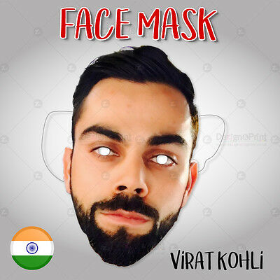 Virat Kohli paper face mask - Support Team India - Men in Blue