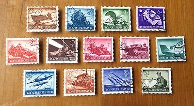 EBS Germany 1944 Army and Heroes Memorial Day set Michel No. 873-885 FU (2)