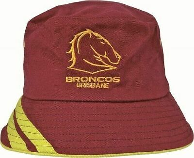 Brisbane Broncos NRL 2017 GT Bucket Hat Cap! BNWT's! Gone Fishing! Summer Days!