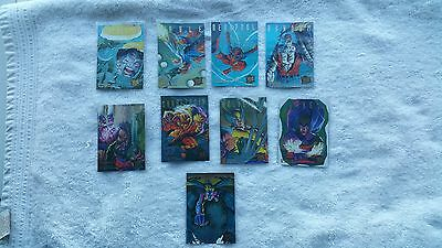 1995 Fleer Ultra X-Men Hunters & Stalkers Complete Set 1-9