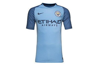 a11af4898 Manchester City FC 2017 Nike Home Jersey Sizes S-2XL! EPL Football Soccer!