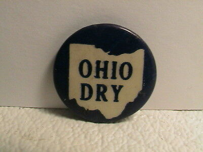 Vintage 1920's Ohio Dry Alcohol Prohibition Beer Liquor Distillery Brewery Pin