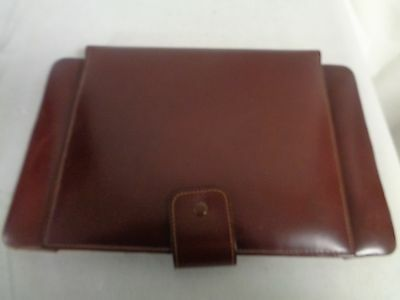 Brown Leather Writing Case With  Paper Calendar                             (Em)