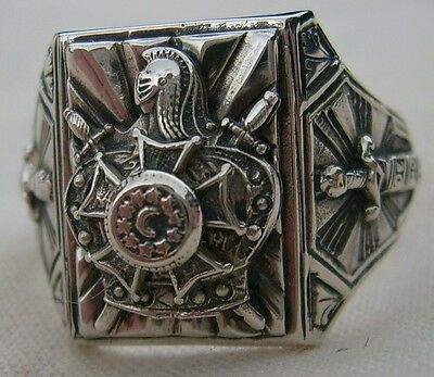MASONIC RING  DE MOLAY   925 Silver