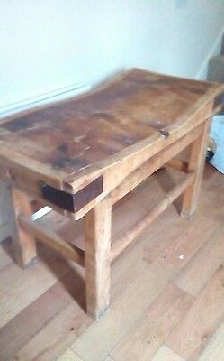 Vintage Butchers Block And Stand