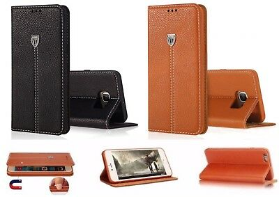 Luxury Genuine Real Leather Flip Case Wallet Cover For Samsung Galaxy Models XY