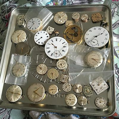 Job Lot Vintage Watch Movements Omega Vertex Garrard Longines Certina