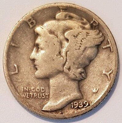 1939-D U.S.A Mercury Head Dime coin