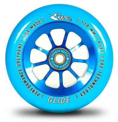 River Scooter Wheels - Glide - Blue - 110mm (1 Pair) -