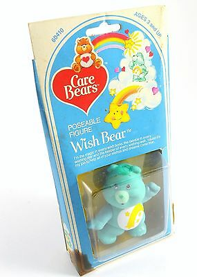 """Poseable Wish Care Bear Figure Kenner 1982 3 1/2"""" SEALED Toy"""