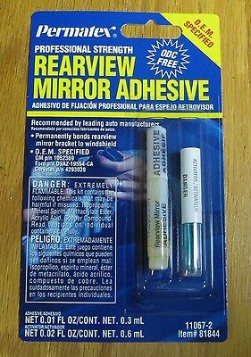 Lot Of Two (2) Permatex Professional Strength Rear View Mirror Adhesive 81844