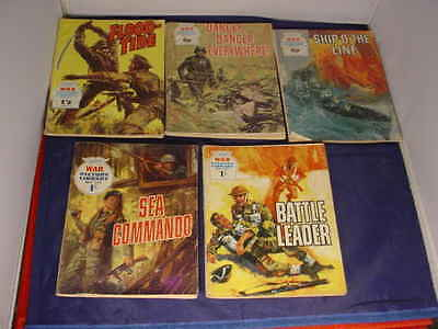 Fleetway War Picture Library x 5 Military Comics 1967-73 Nos 370/554/589/721/877
